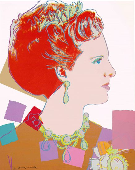 Andy Warhol Screen Print, Queen Margrethe II of Denmark from the Reigning Queens of 1985