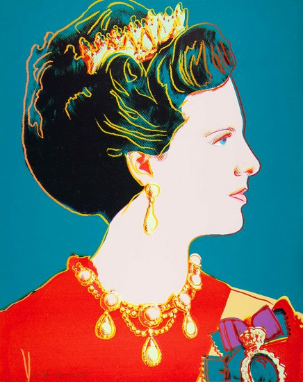 Andy Warhol Lithograph, Queen Margrethe II of Denmark from the Reigning Queens of 1985
