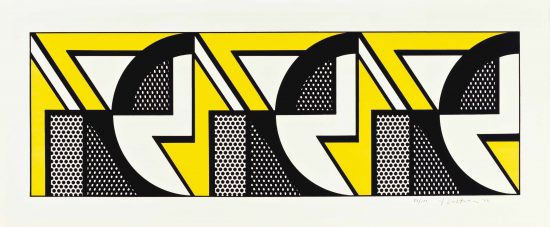 Roy Lichtenstein Lithograph, Repeated Design, 1969, C.90