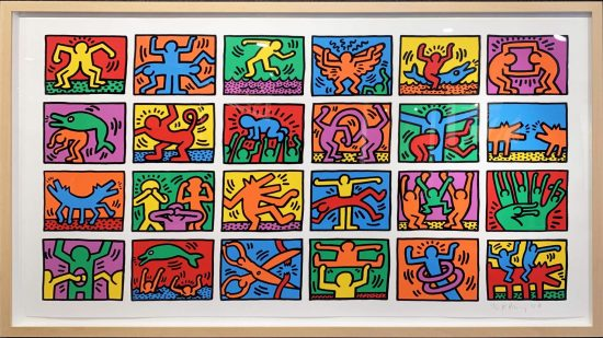 Keith Haring Silkscreen, Retrospect, 1989