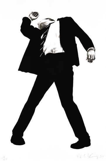 Robert Longo Lithograph, Rick, from Men in Cities, 1994