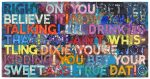 Mel Bochner Monoprint, Right On, 2018