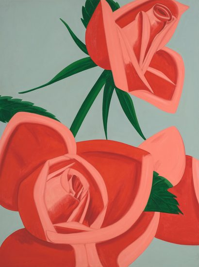 Alex Katz Silkscreen, Rose Bud, 2019