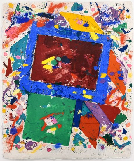 Sam Francis Lithograph, Untitled Monotype