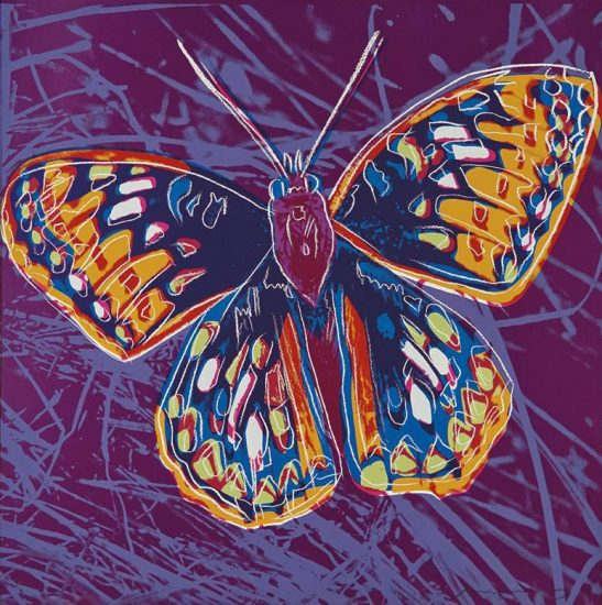 Andy Warhol Screen Print, San Francisco Silverspot from the Endangered Species Series, 1983