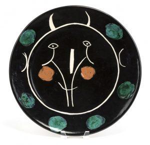 Pablo Picasso Ceramic, Service Visage Noir (Black Face Service), 1948