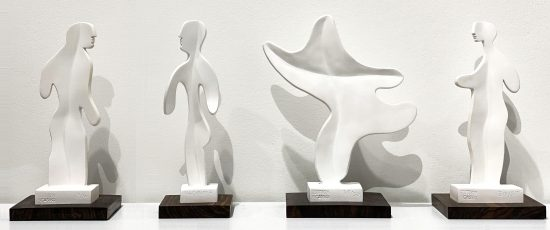 Pablo Picasso Ceramic, Set of Four Ceramics Sculptures, 1965 A.R. 535 - 538