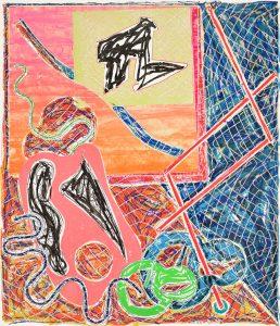 Frank Stella Lithograph, Shards I, 1982