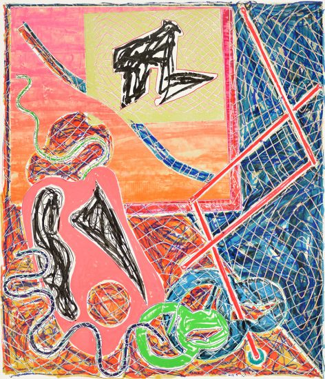 Frank Stella Lithograph, Shards I, 1982