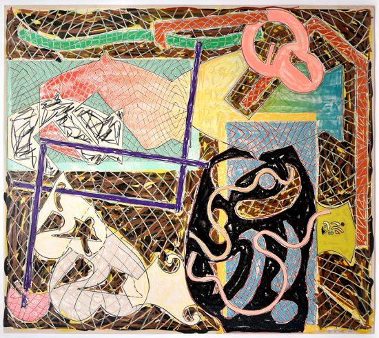 Frank Stella Lithograph, Shards II, 1982