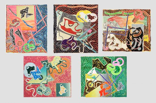 Frank Stella Lithograph, Shards Portfolio of 5 works, 1982