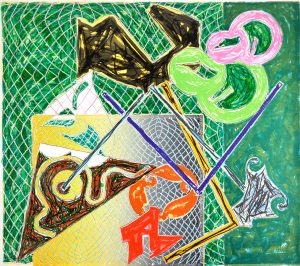 Frank Stella Lithograph, Shards V, 1982