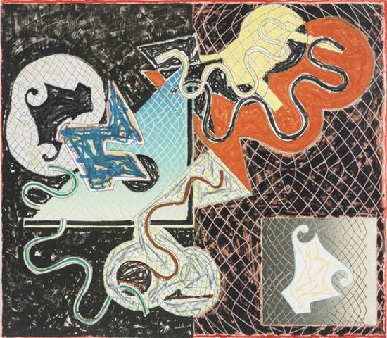 Frank Stella Lithograph, Shards Variant IVa, 1982