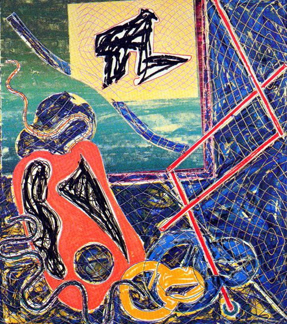 Frank Stella Lithograph and Screenprint Shards Variant IA, 1982
