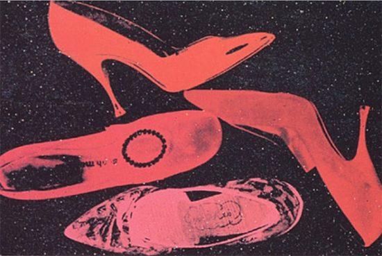 Andy Warhol Silkscreen, Shoes, 1980 FS II.253