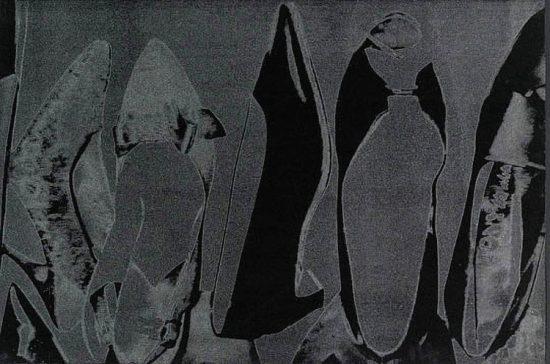 Andy Warhol Silkscreen, Shoes, 1980 FS II.256