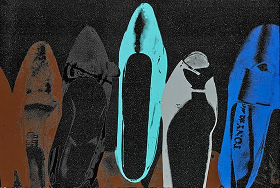 Andy Warhol Silkscreen, Shoes, 1980 FS II.257