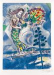Marc Chagall Lithograph, Sirène au Pine (Siren with Pine), from Nice & the Côte d'Azur, 1967