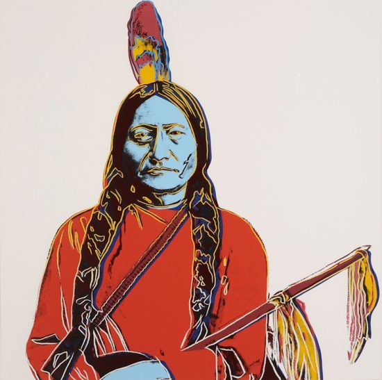 Andy Warhol Screen Print, Sitting Bull, from the Cowboys and Indians Series, 1986