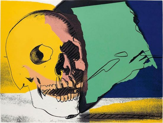 Andy Warhol Screen Print, Skulls, 1976 FS II.158