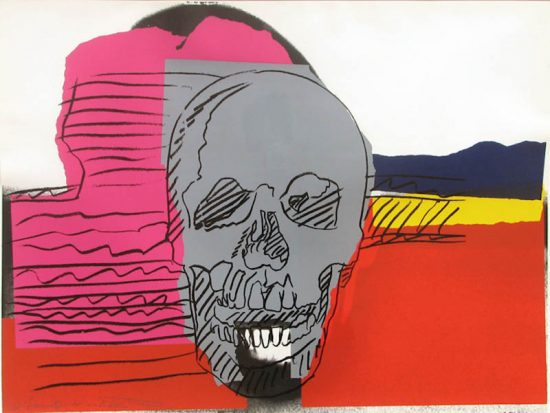 Andy Warhol Screen Print, Skulls, 1976 FS II.159
