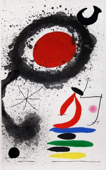 Joan Miró Lithograph, Soleil Ébouillanté (The Scalding Sun), 1969