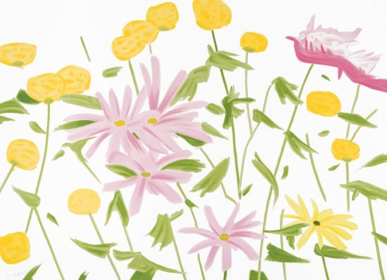 Alex Katz Silkscreen, Spring Flowers, 2017