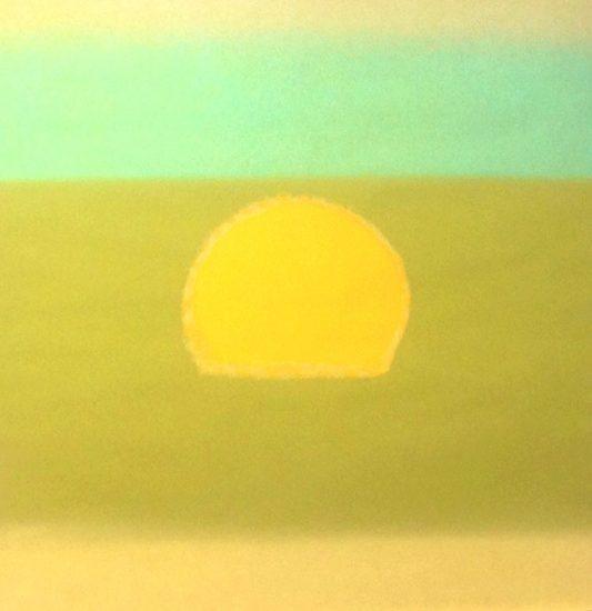 Andy Warhol Silkscreen, Sunset, 1972 FS II.85