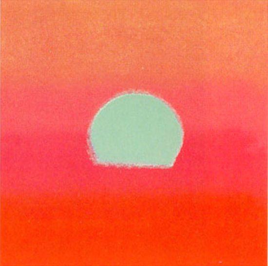 Andy Warhol Silkscreen, Sunset, 1972 FS II.86