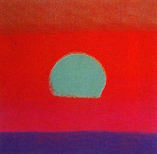 Andy Warhol Silkscreen, Sunset, 1972 FS II.87