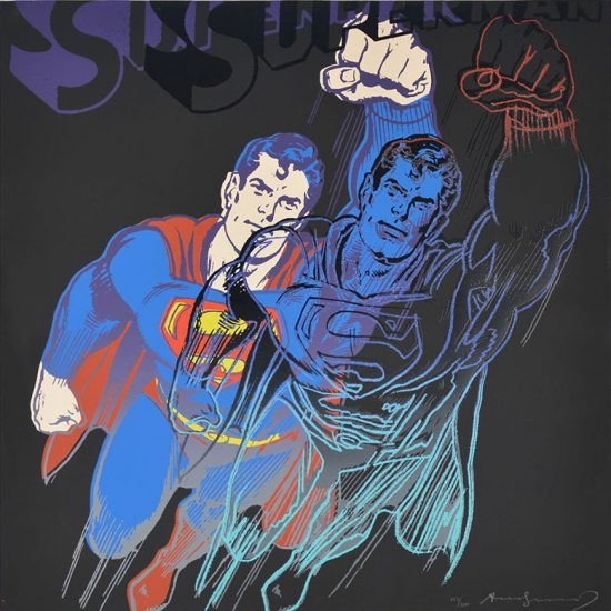 Andy Warhol Screen Print, Superman, from Myths (F. & S. II.260), 1981