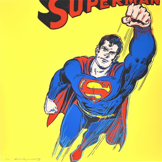 Andy Warhol Screen Print, Superman, from: Myths, Unique Trial Proof