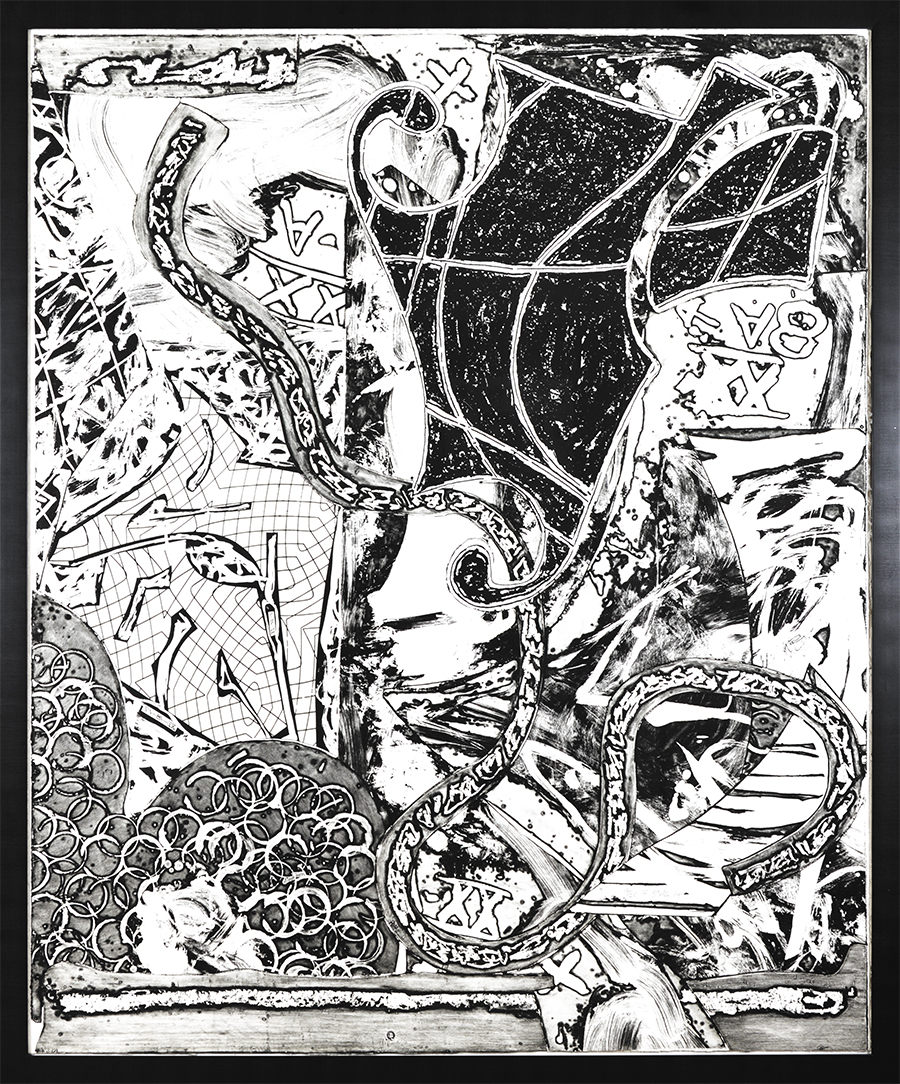 fine art intaglio etching Stella