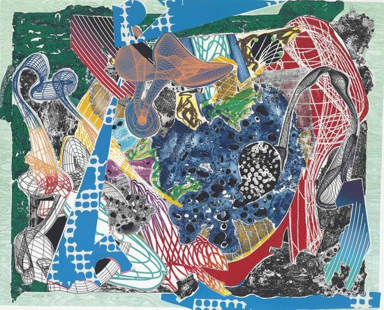 Frank Stella Etching, Swoonaire, from Imaginary Places, 1994