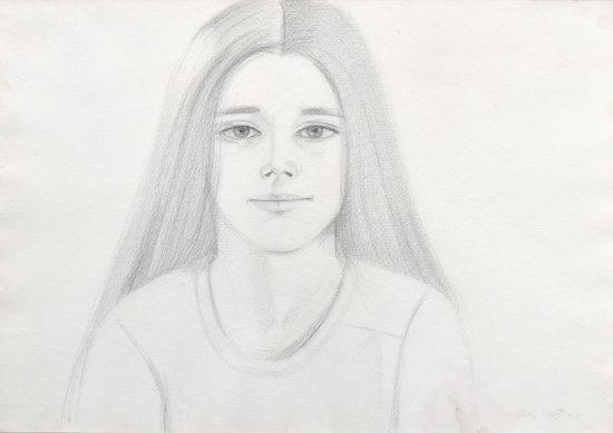 Alex Katz Pencil, Sydney, 1975