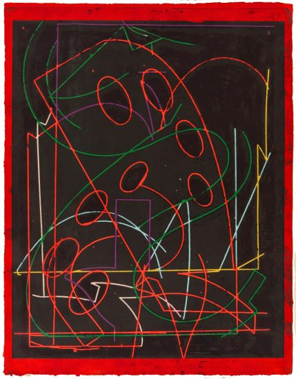 Frank Stella Etching, Talladega Five I (from Circuits Series), 1982