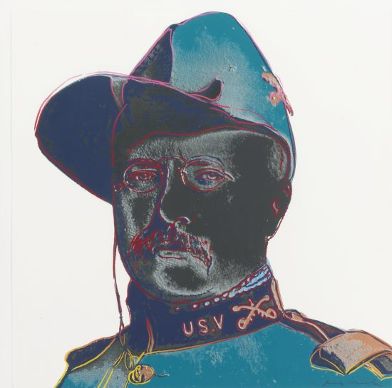 Andy Warhol Screen Print, Teddy Roosevelt, from the Cowboys and Indians Series, 1986