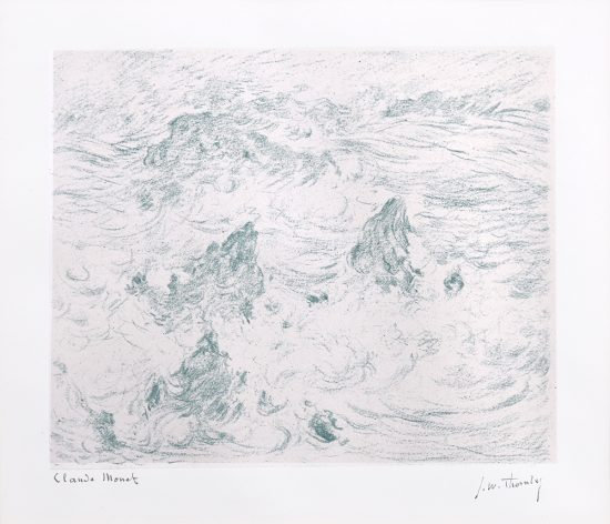 Claude Monet Lithograph, Tempête à Belle-île (Storm at Belle-île), 1894