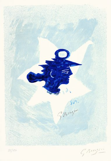 Georges Braque Lithograph, Tête grecque (Grecian Head), c. 1950