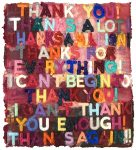 Mel Bochner Monoprint, Thank You, 2018