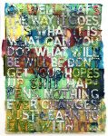 Mel Bochner Monotype, Oh Well, 2018