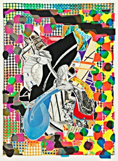 Frank Stella Mixed, The Affidavit, from the Moby Dick Deckle Edges Series, 1993