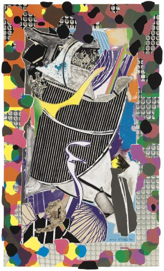 Frank Stella Lithograph, The Battering Ram (From Moby Dick Deckle Edges Series), 1993