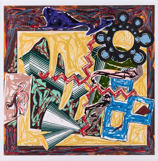 Frank Stella Screen Print, Then Came a Fire and Burnt the Stick, after El Lissitzky's Had Gadya 1984
