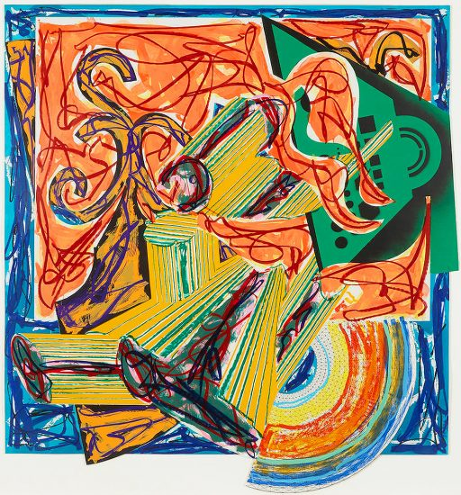 Frank Stella Screen Print, The Butcher Came and Slew the Ox, 1984