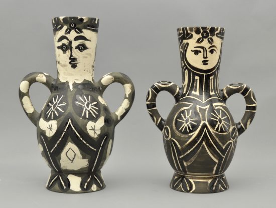 Pablo Picasso Ceramic, The King and The Queen (Vase with two high handles) 1952 and 1953 A.R. 141 A.R. 213