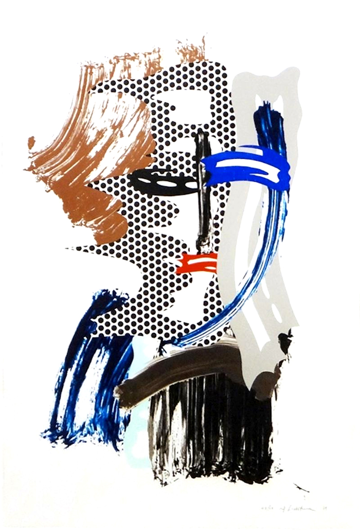 Lichtenstein The Mask, from Brushstroke Figures Series, 1989 for sale (image 1)