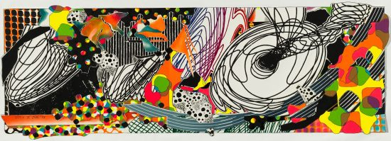 Frank Stella Mixed, The Monkey-Rope, from the Moby Dick Deckle Edges Series, 1993