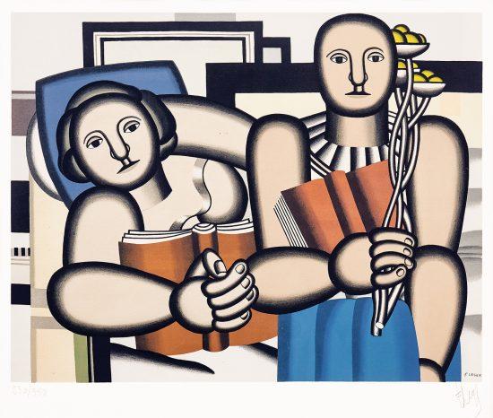 Fernand Léger Lithograph, La Lecture (The Reader), c. 1953