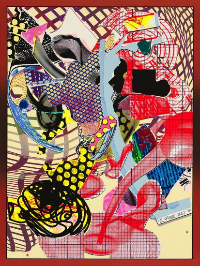 Frank Stella Screen Print, Coxuria, State I, from the Imaginary Places II Series, 1997